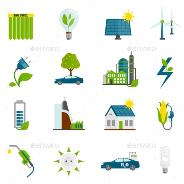 Eco Energy Flat Icons
