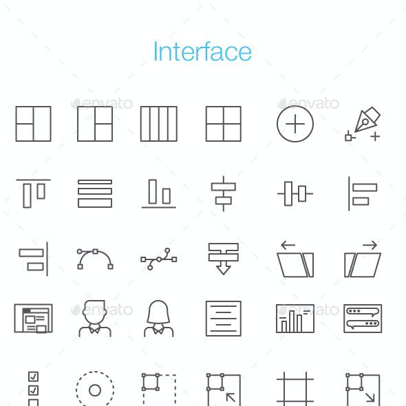 152 Interface Line Icon