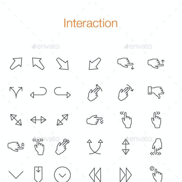 112 Interaction Line Icon