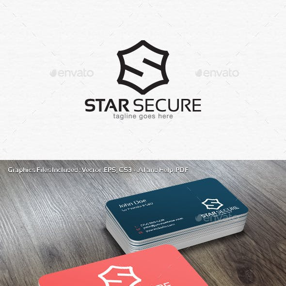 Star Secure Logo Template