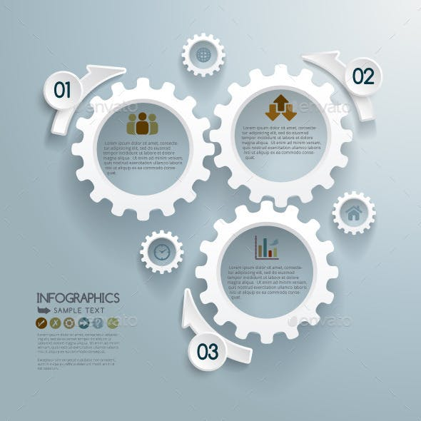 Cogwheels Infographic Concept Background
