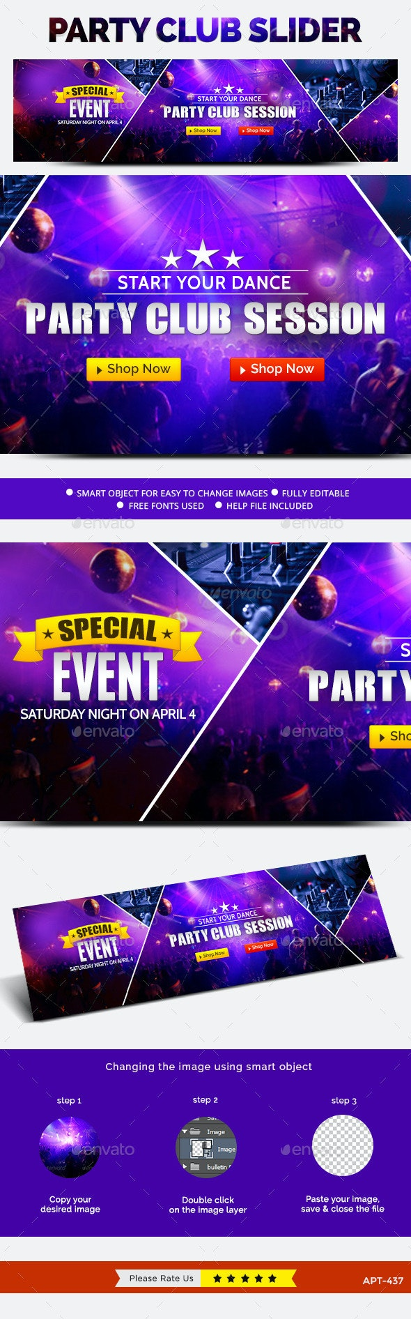 Night Club Slider - Sliders & Features Web Elements