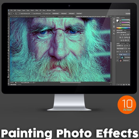 10 Painting Photo Effects - Photoshop Action