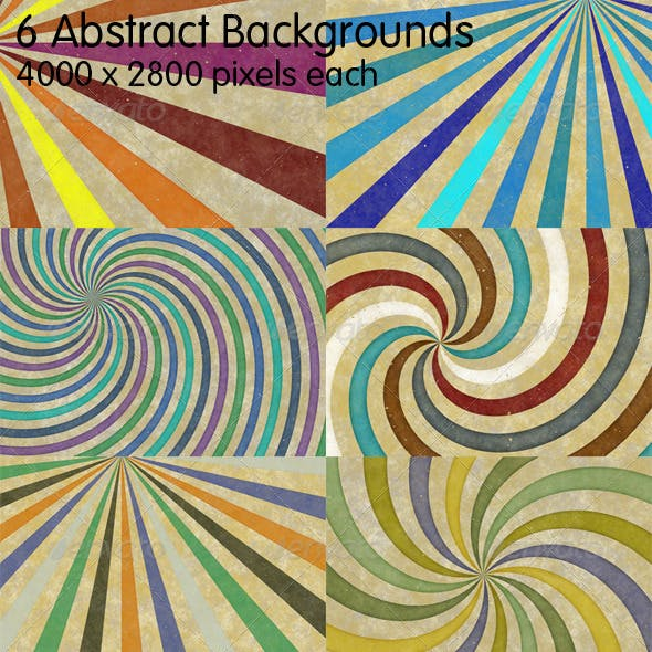 6 Retro Abstract Backgrounds