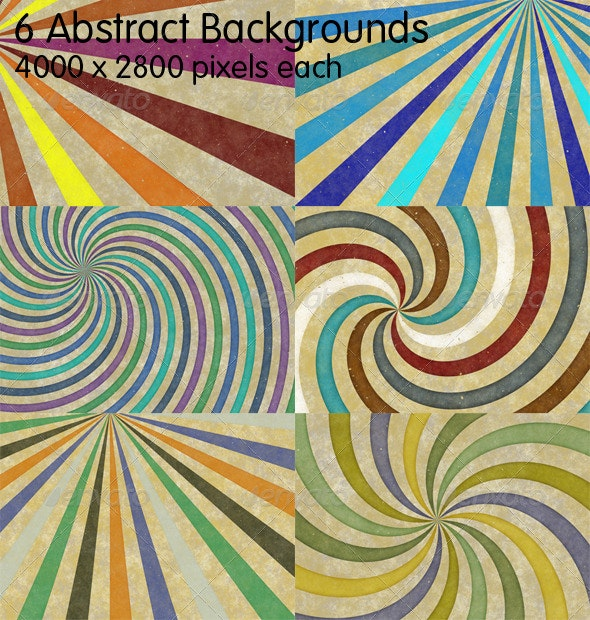 6 Retro Abstract Backgrounds - Abstract Backgrounds