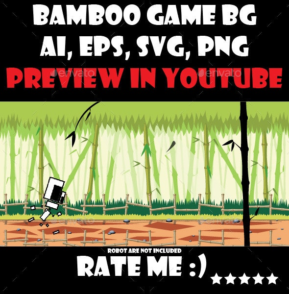 Green bamboo forest game background - Backgrounds Game Assets