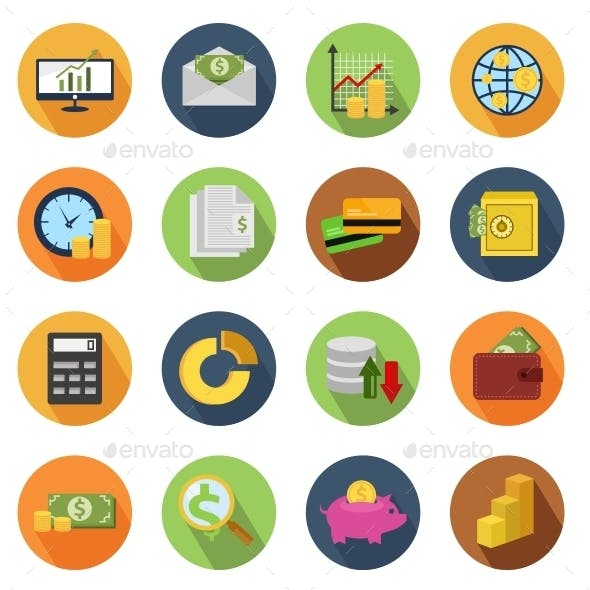 Finance Circle Icons