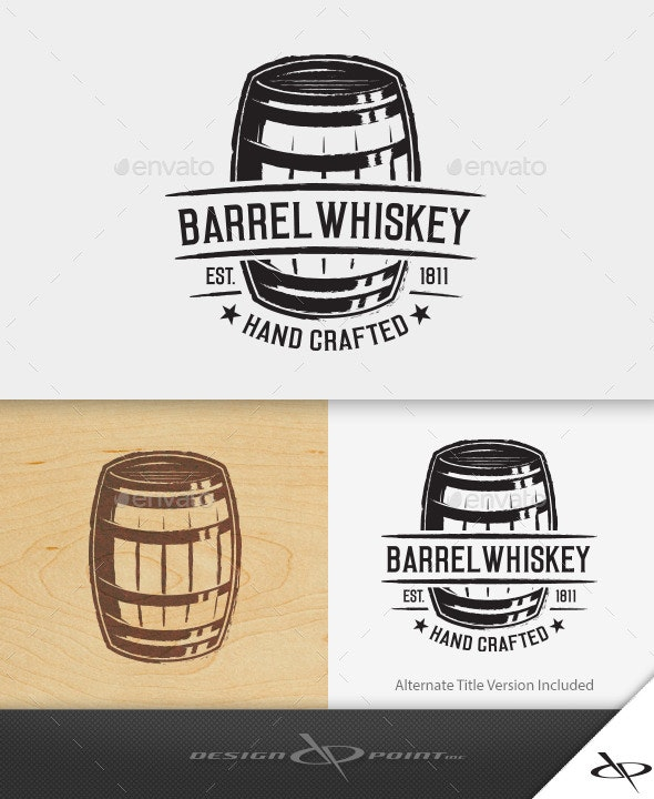Barrel Whiskey Logo - Crests Logo Templates