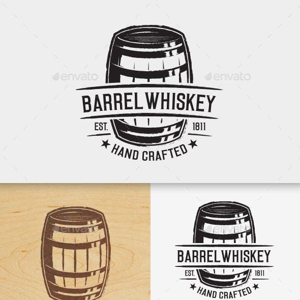 Barrel Whiskey Logo