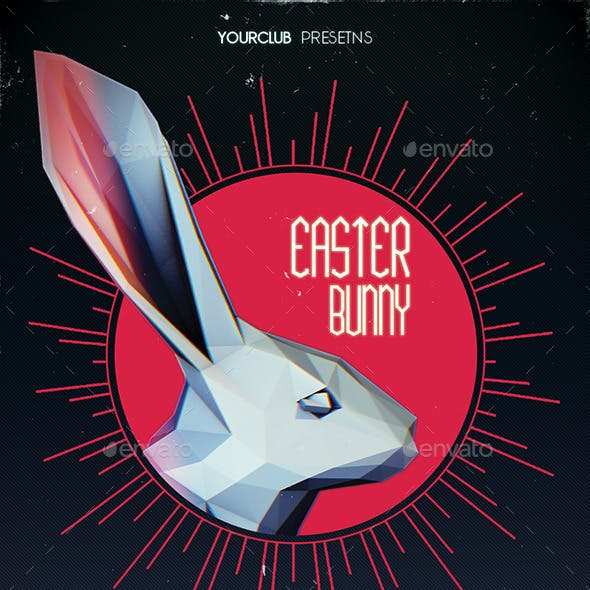 Low Poly Easter Bunny Flyer