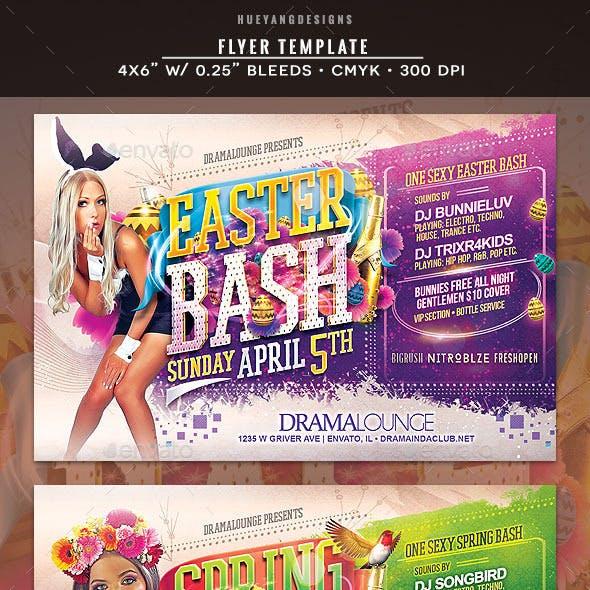 Easter & Spring Bash Flyer