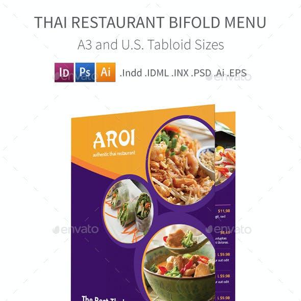 Thai Restaurant Bifold / Halffold Menu