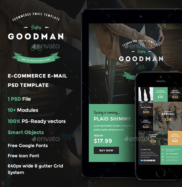 Jeffry Goodman - E-commerce E-newsletter Template - E-newsletters Web Elements