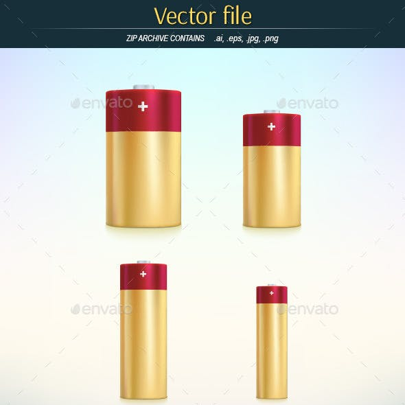 Batteries Main Standard Sizes