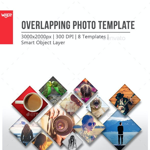 Overlapping Photo Template