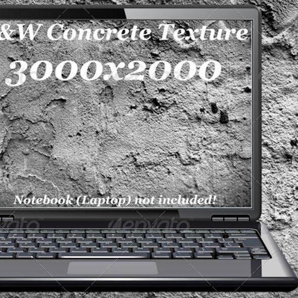 B&W concrete texture