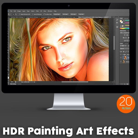 20 HDR Painting Art Effects - Photoshop Action