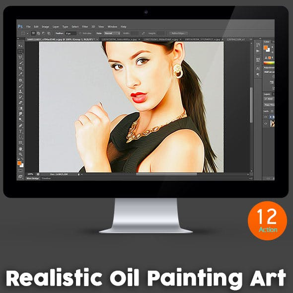 Realistic Oil Painting Art - Photoshop Action