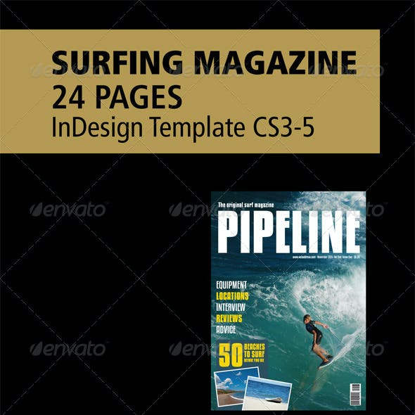 Surfing Magazine - 24 Page layout - InDesign
