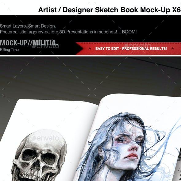 Notebook Mock-Up | Sketch Book Mock-Up | Artist