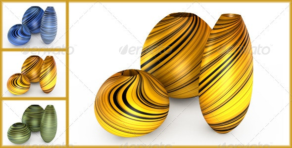 Set of Vases - Objects 3D Renders