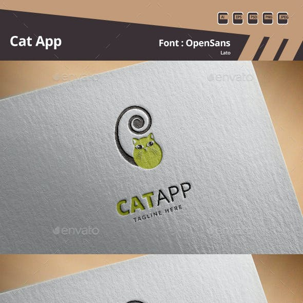 Cat App Logo Template