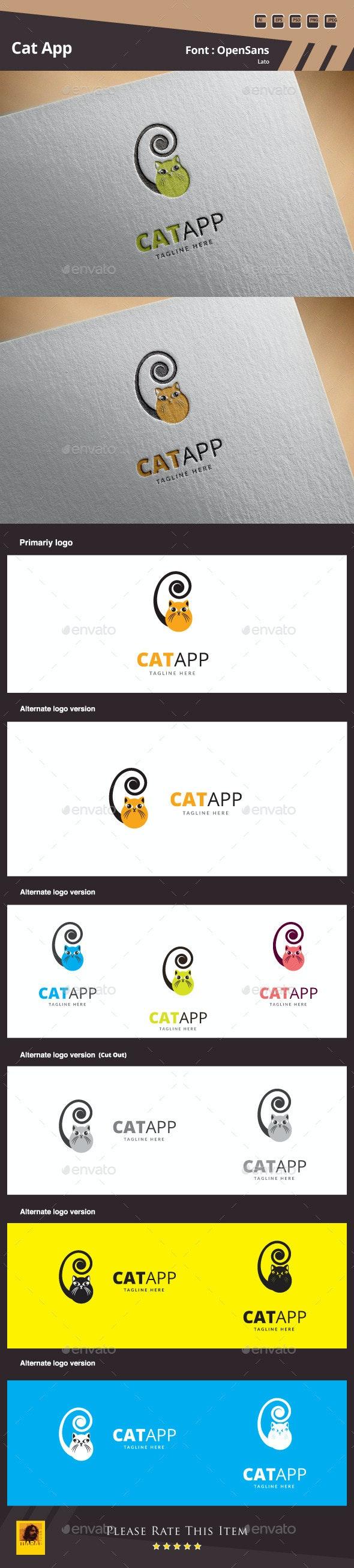 Cat App Logo Template - Animals Logo Templates