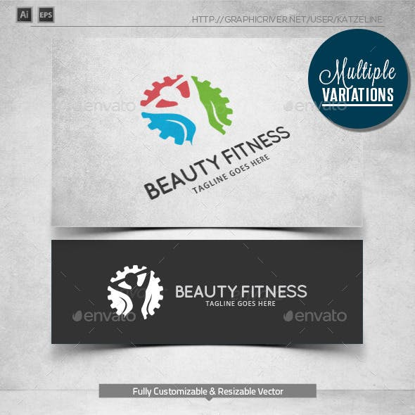 Beauty Fitness - Logo Template