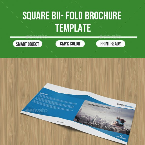 Square Bi - Fold Business Brochure