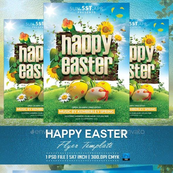 Happy Easter Flyer Template v2