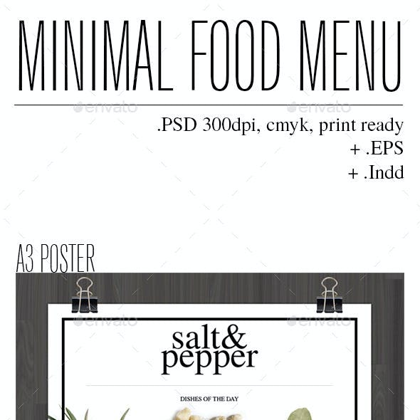 Minimal Food Menu Part 2