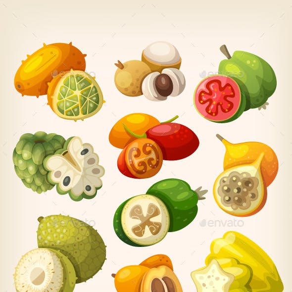 Exotic Tropical Fruit.