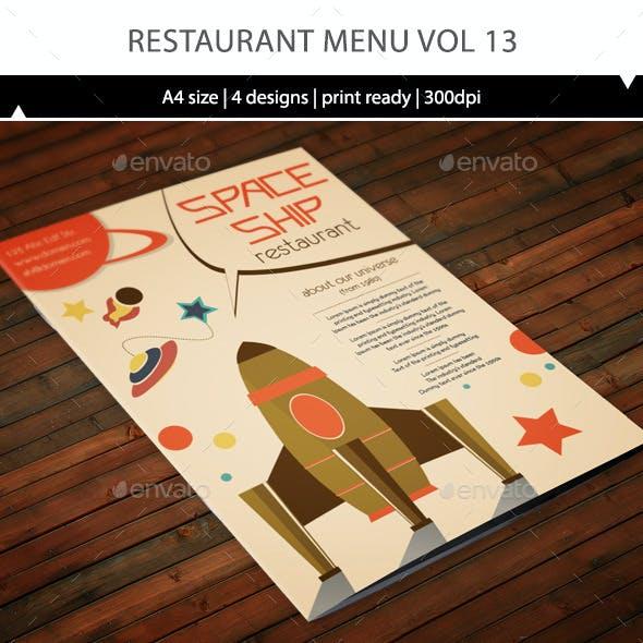 Restaurant Menu A4 Vol13
