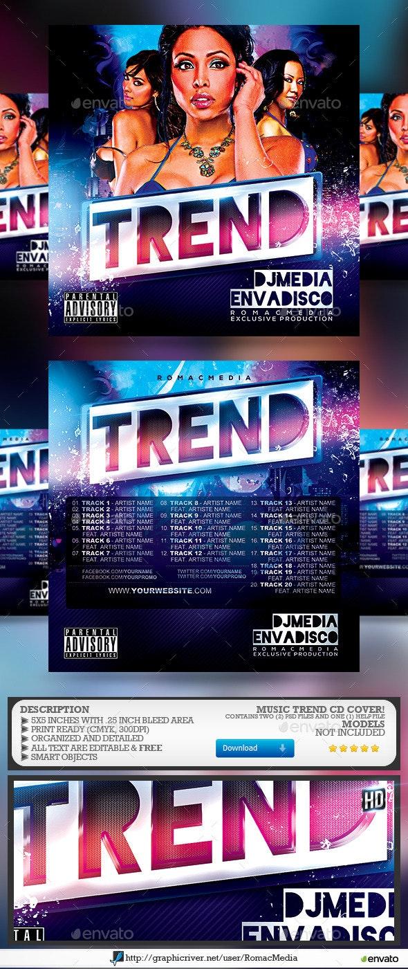 Music Trend CD Cover - CD & DVD Artwork Print Templates