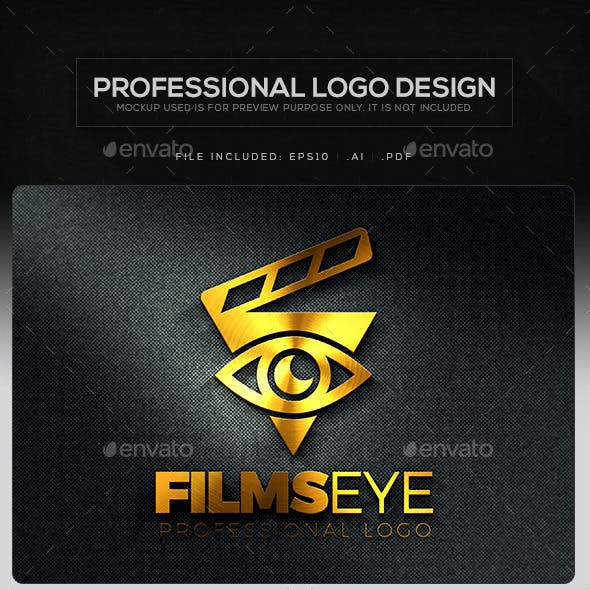 Films Eye Logo Template