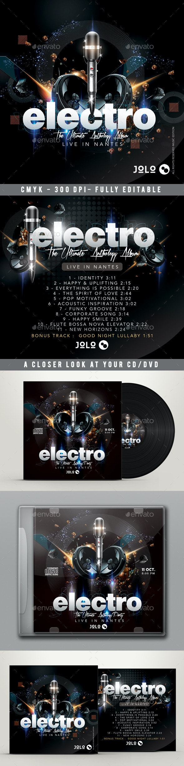 Cd Cover - CD & DVD Artwork Print Templates