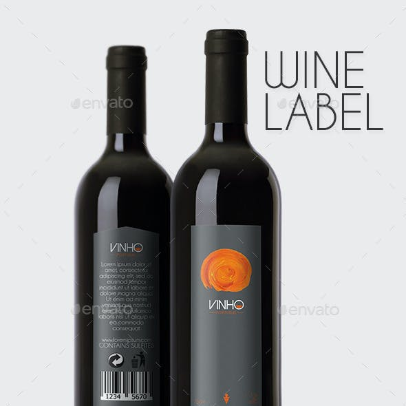 Vinho Wine Label