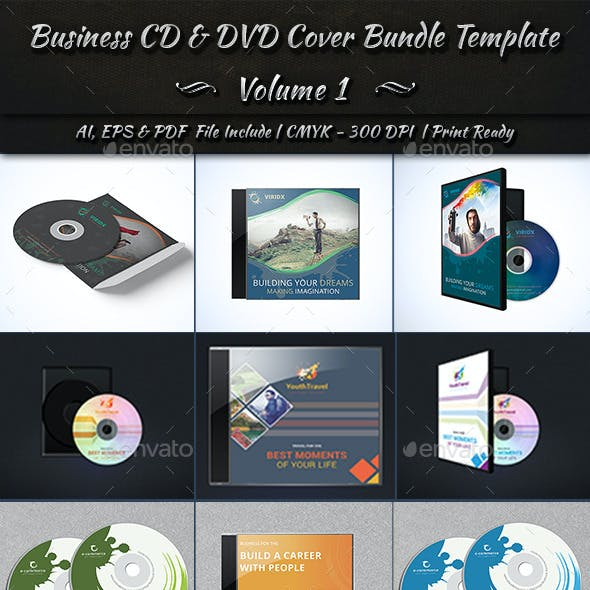 Business CD & DVD Cover Bundle Template | Volume 1