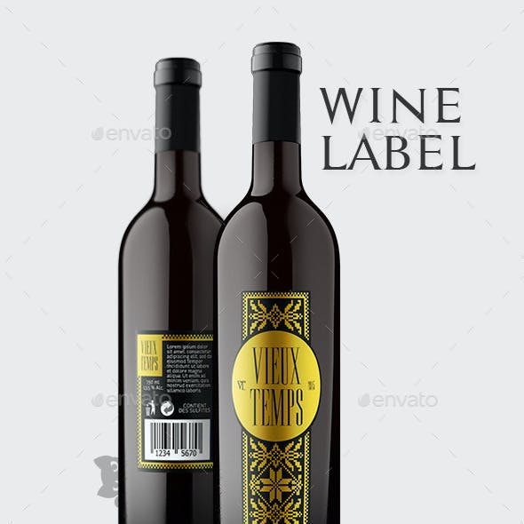 Vieux Temps Wine Label