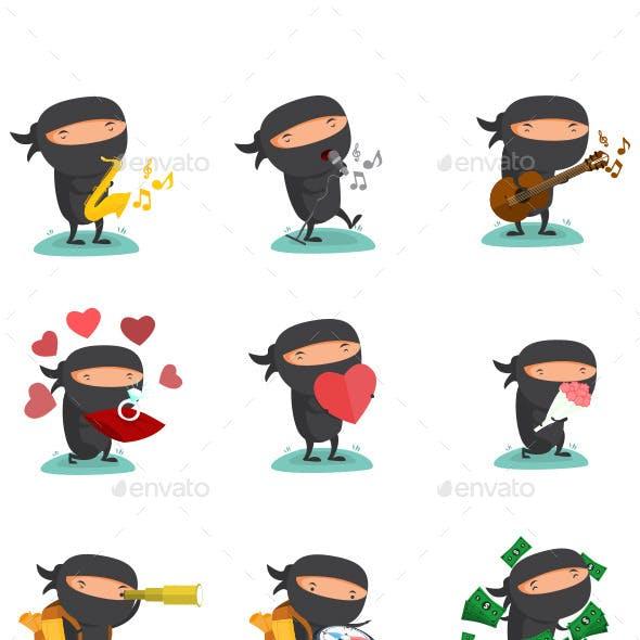 Ninja Mascot Set 5