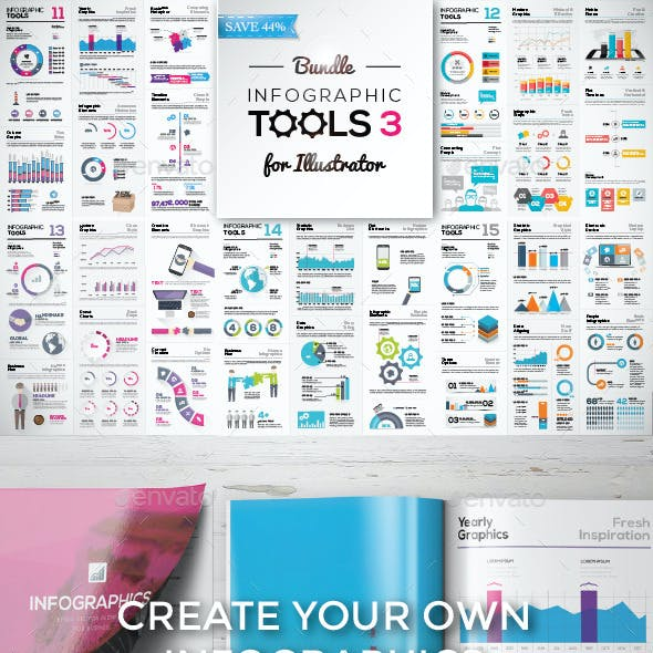 Big Collection of Modern Infographic Elements