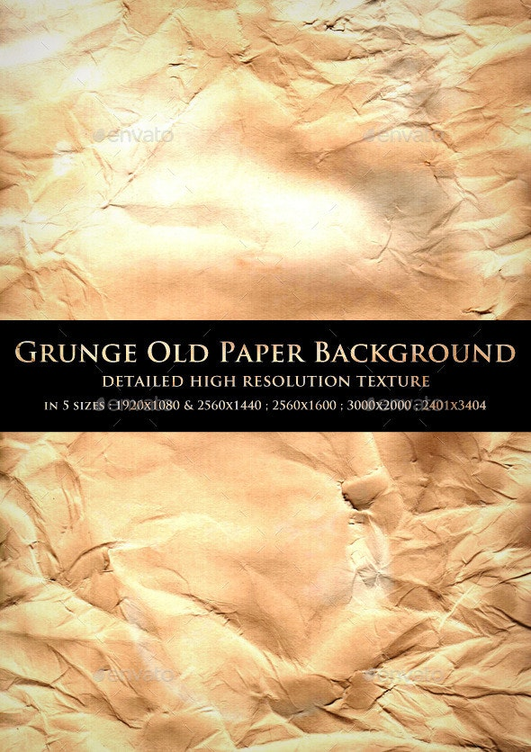 Grunge Old Paper Background - Paper Textures
