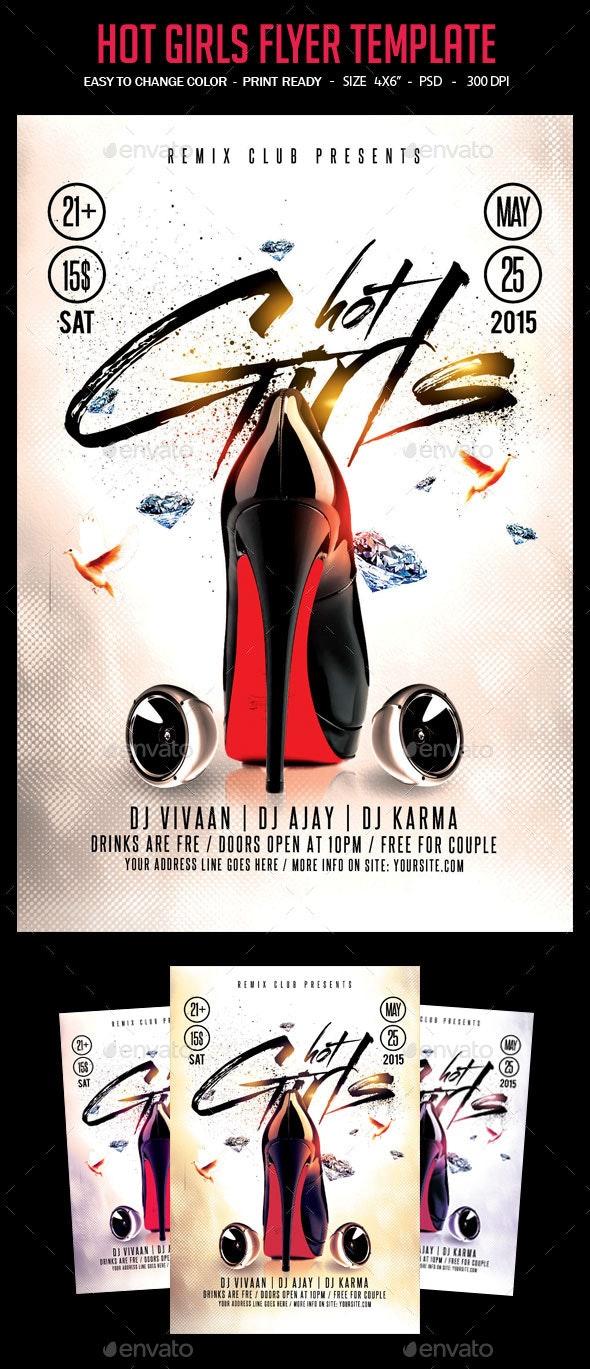 Hot Girls Flyer Template - Clubs & Parties Events