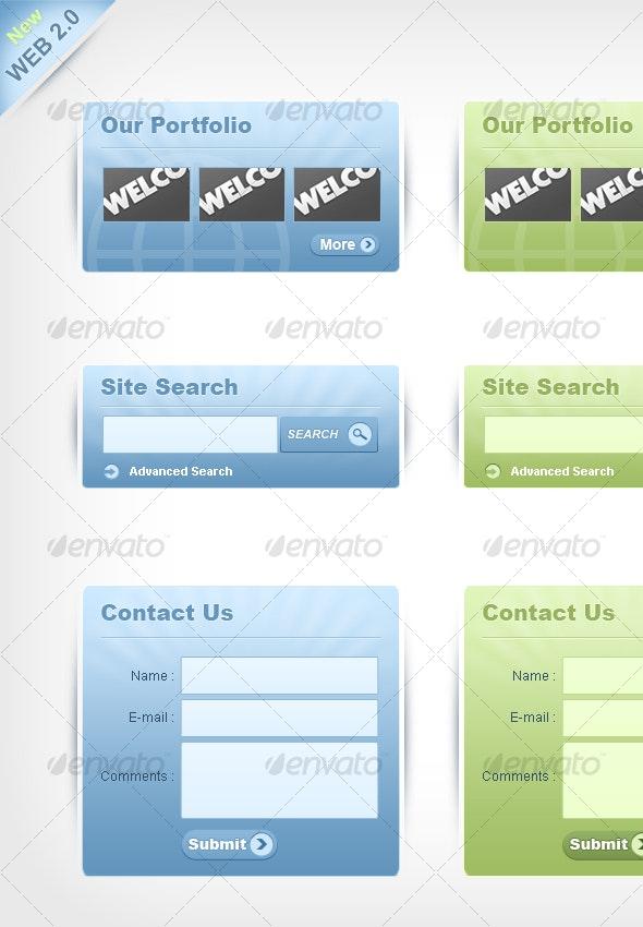 Web 2.0 Style web elements/buckets [New Version] - Web Elements