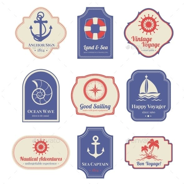 Nautical Emblems Set