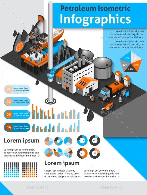 Petroleum Isometric Infographics - Infographics