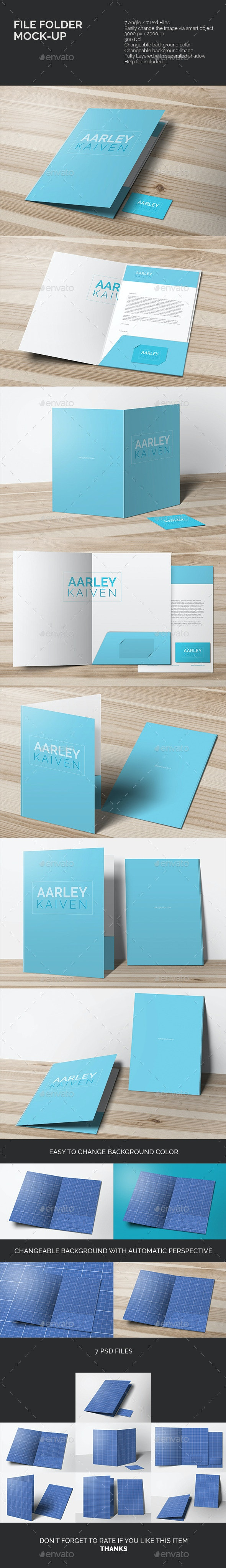 File Folder Mock-up - Miscellaneous Print