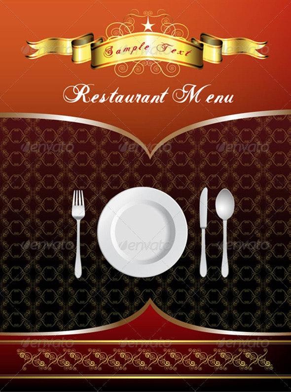 Menu Card Design - Food Objects