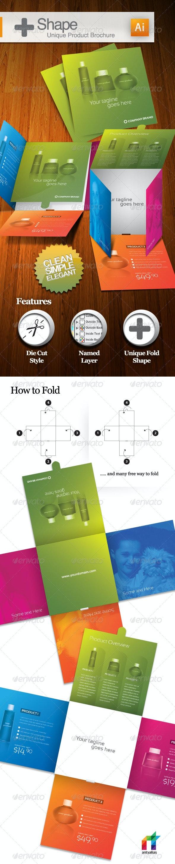 + Shape - Unique Product Brochure - Catalogs Brochures