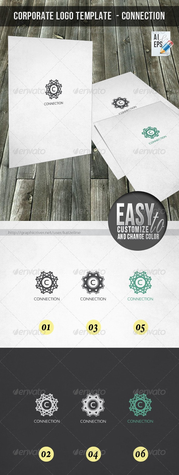 Corporate Logo Template - Connection - Vector Abstract